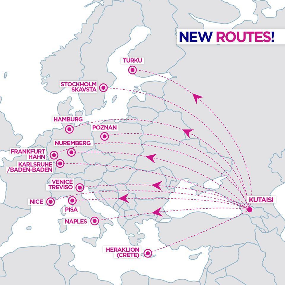 Новые рейсы Wizz Air в Кутаиси / Фото facebook.com/wizzair