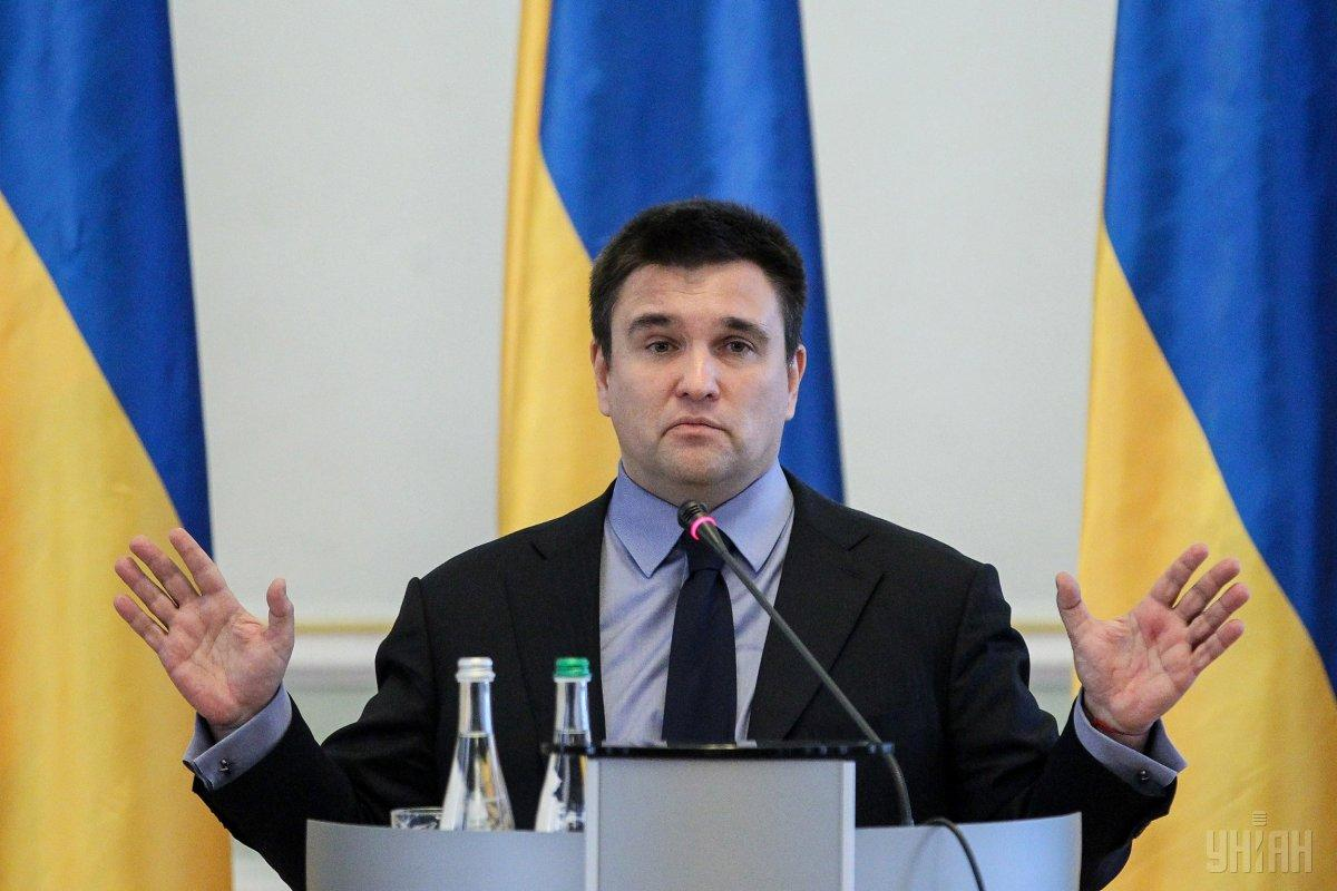 Klimkin says only Ukrainians should decide on Ukraine's future / Photo from UNIAN