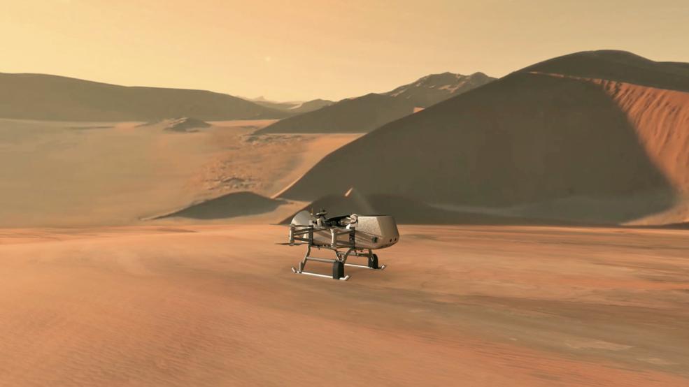 """Космічний корабель отримав назву Dragonfly (""""бабка"""") / фото NASA/JHU-APL"""