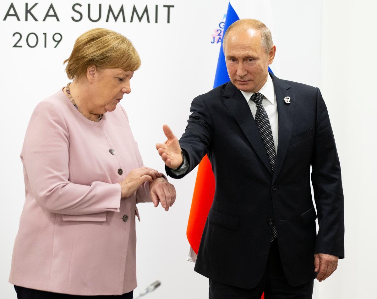 Ангела Меркель і Володимир Путін / фото REUTERS
