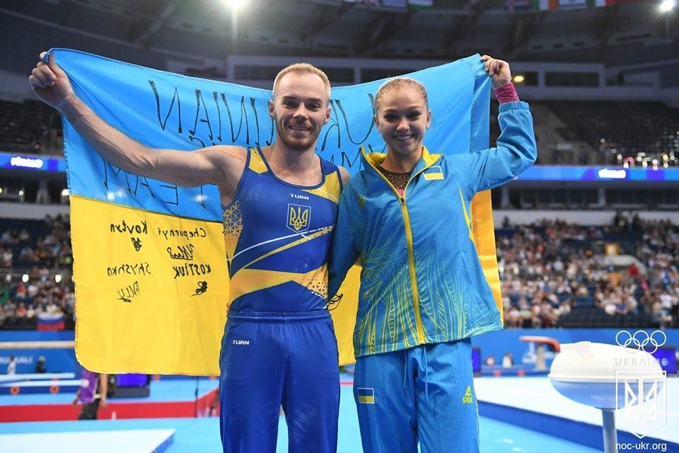 Олег Верняев и Анастасия Бачинская завоевали золотые награды / фото: НОК Украины