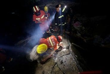 Жертвами землетрясения в Китае стали 11 человек