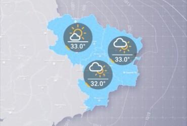 Прогноз погоди на понеділок, день 24 червня