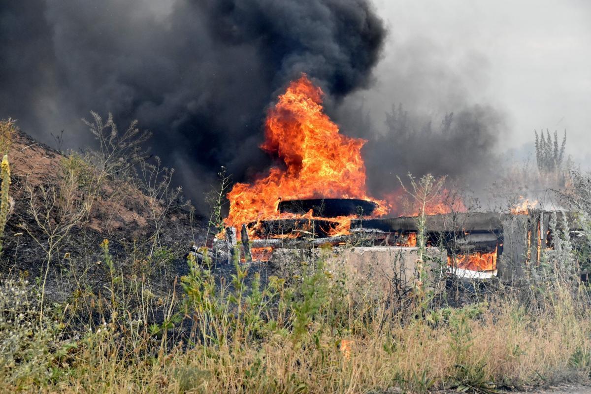 На локализацию пожара ушло примерно 8-10 часов / штаб ООС