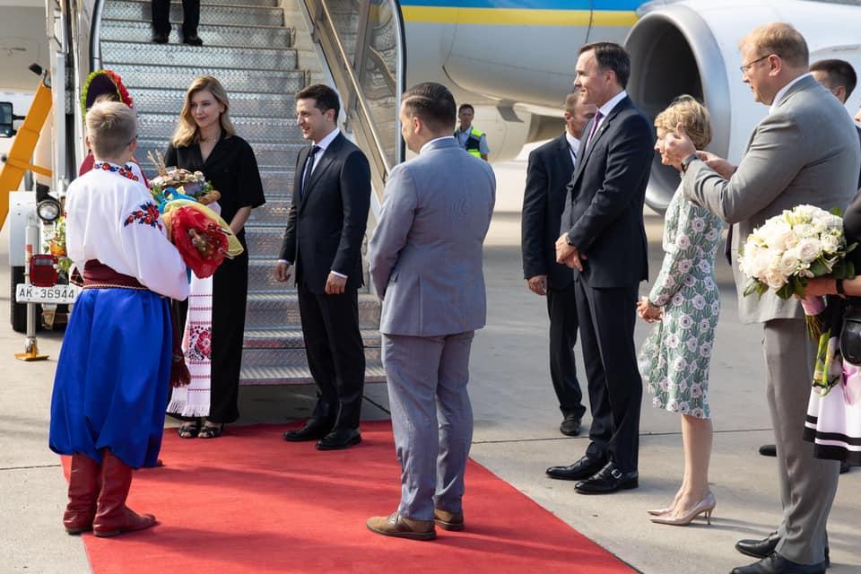 Зеленский вместе с женой прибыл в Канаду / фото facebook.com/president.gov.ua