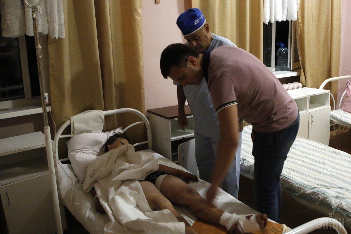 Внаслідок вибуху снаряду постраждало 6 дітей / фото УНІАН