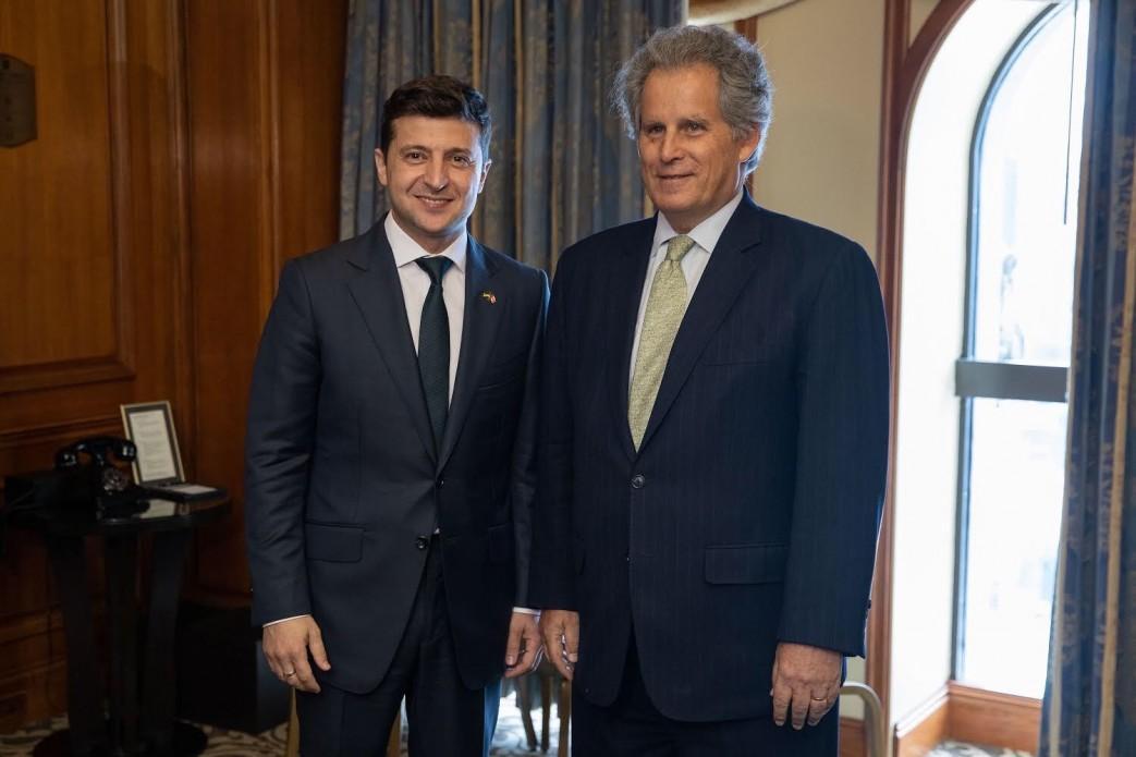 Владимир Зеленский и Дэвид Липтон / фото пресс-служба президента