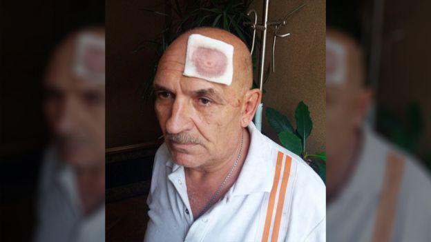 Владимир Цемах в Киеве после задержания / фото: VK / BBC русская служба