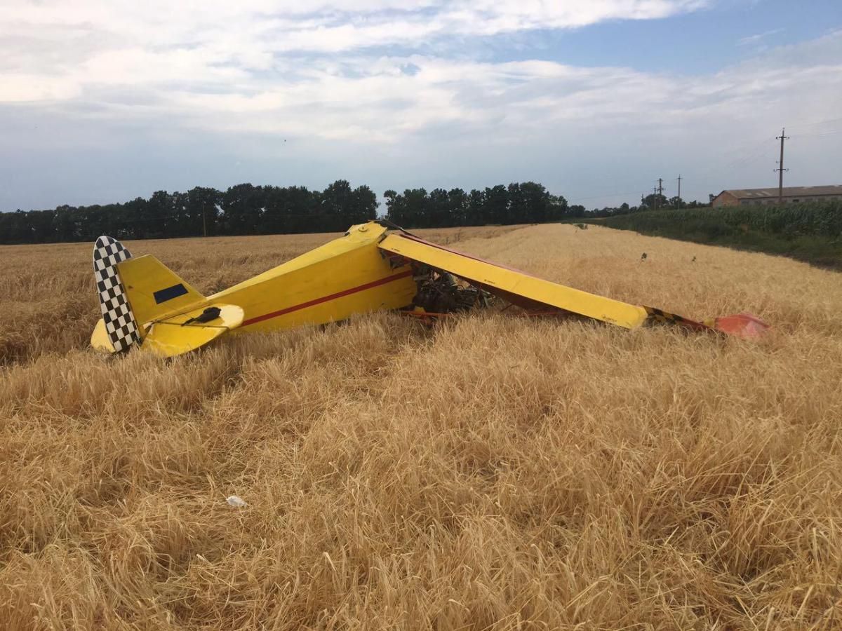 В Полтавской области разбился легкомоторный самолет / фото dsns.gov.ua