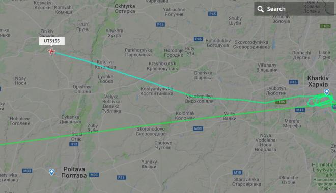 Самолет из Ниццы сделал пять кругов над Харьковом / фото flightrаdar24.com