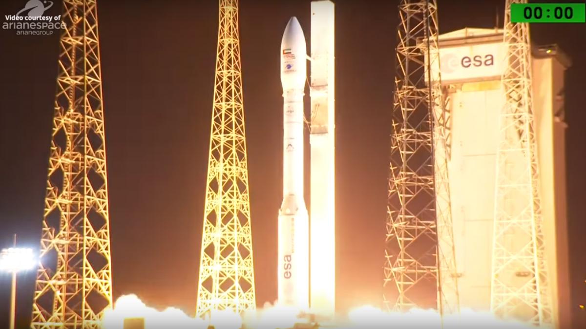Запуск ракеты состоялся с космодрома Куру/ скриншот