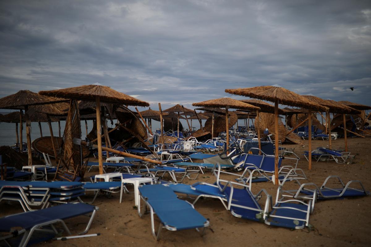 Последствия шторма в Греции / REUTERS