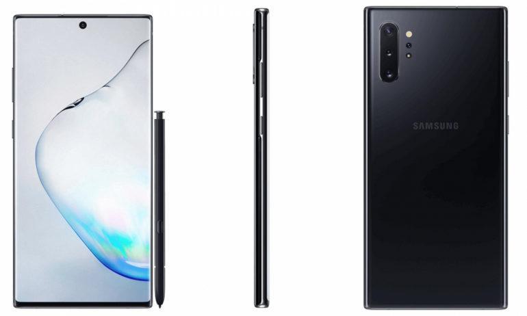 Samsung Galaxy Note10 показана в двух вариантахцветового оформления / фото Samsung