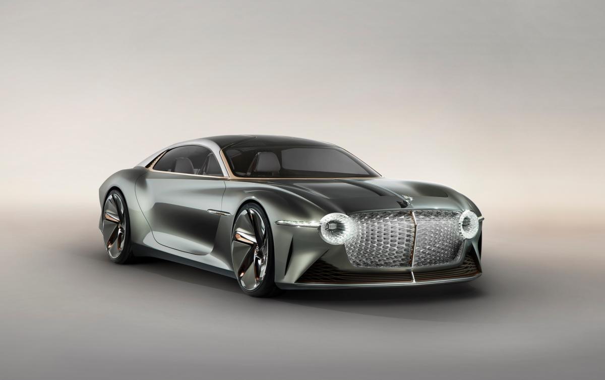 Модель покликана показати, як виглядатимуть преміальні електрокари у 2035 році / фото Bentley