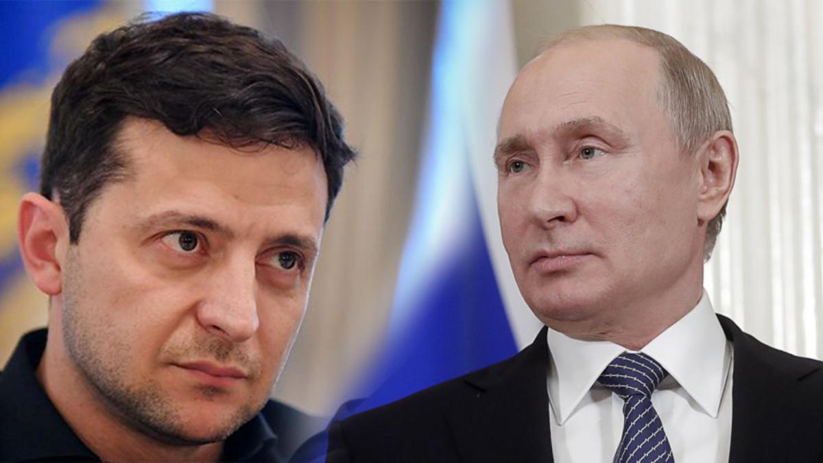 Зеленский поговорил с Путиным по телефону / коллаж УНИАН