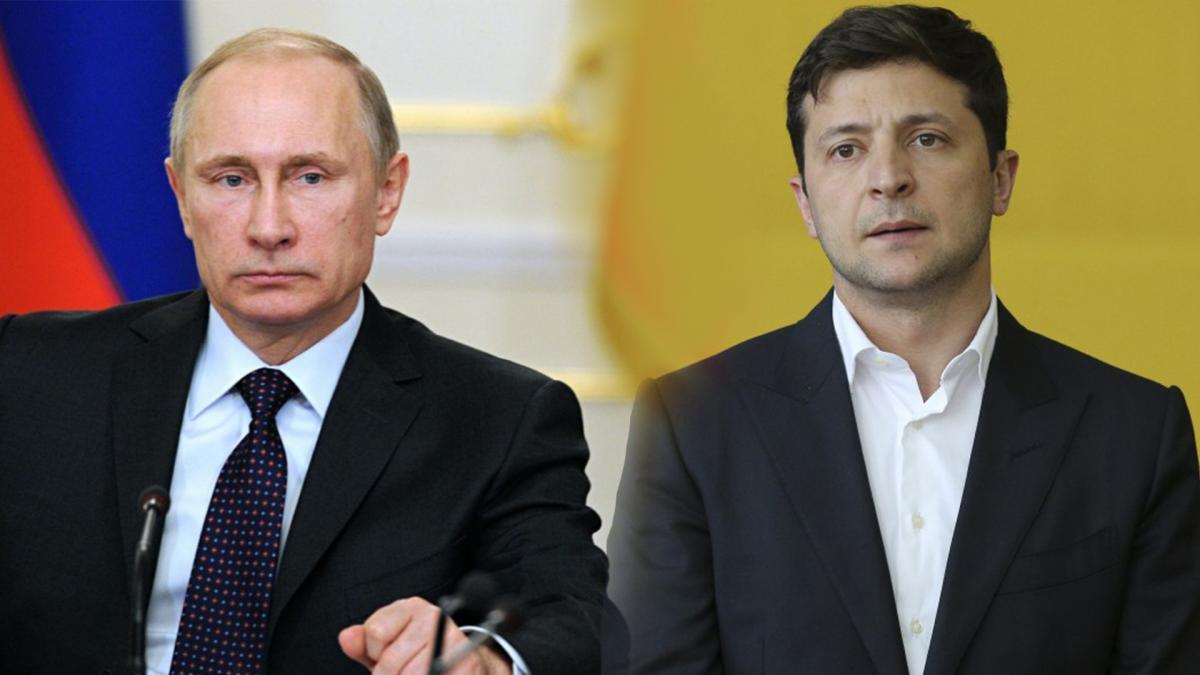 Владимир Путин и Владимир Зеленский / коллаж УНИАН