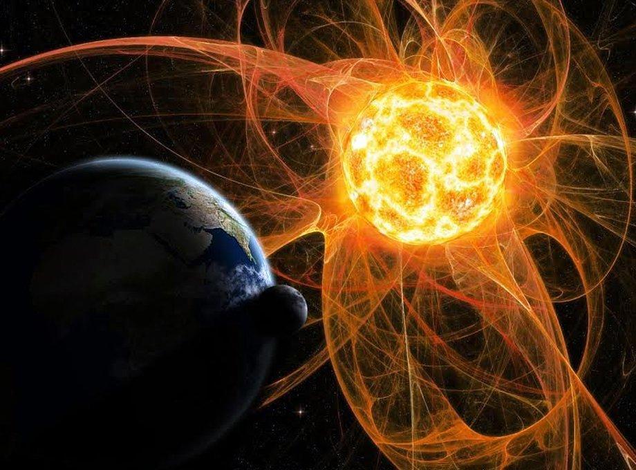 Буря пов'язана з наближенням до Землі швидкого потоку сонячного вітру / vladtime.ru