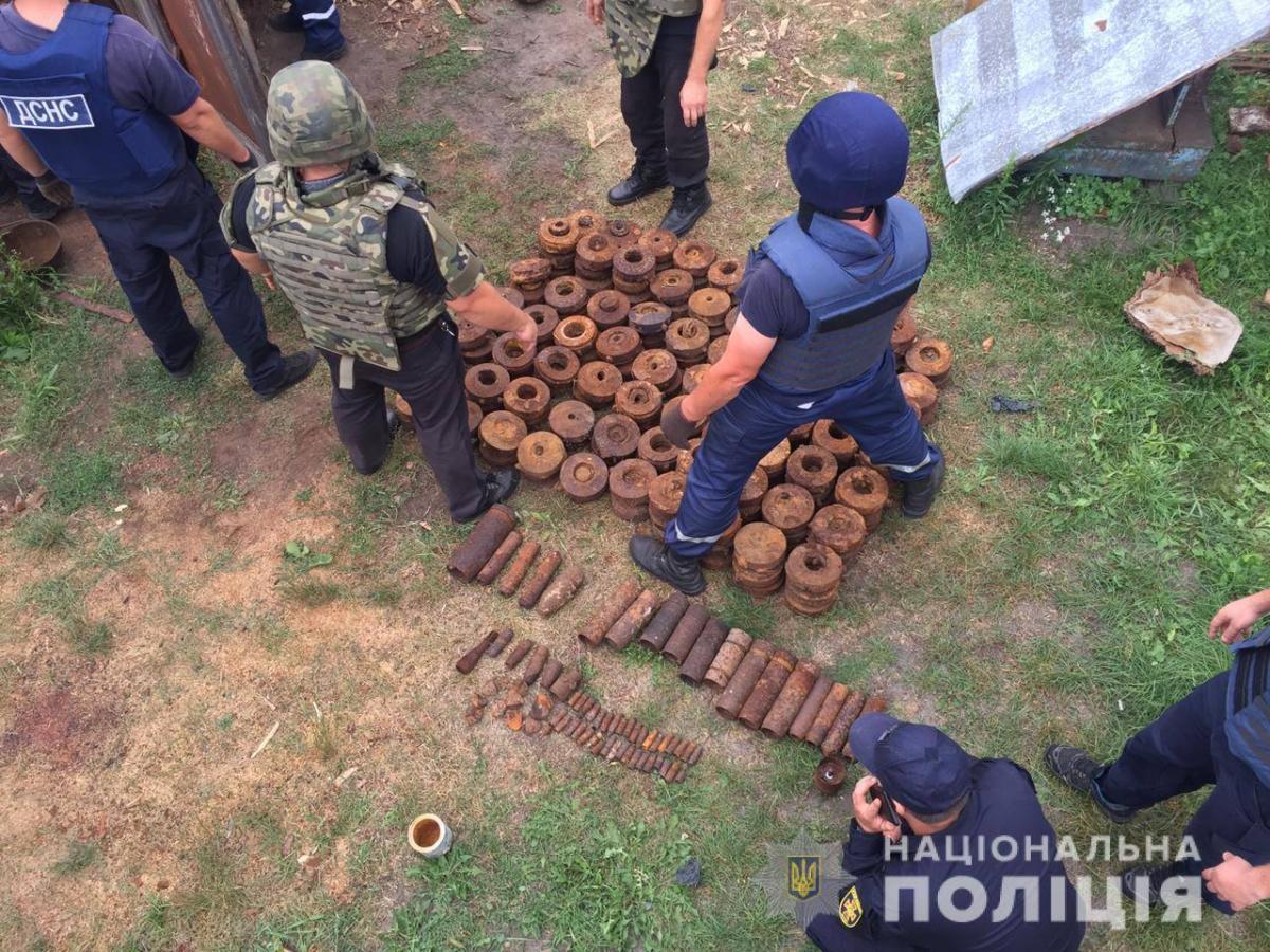 Точное количество взрывоопасных предметов еще устанавливается / фото: пресс-служба полиции
