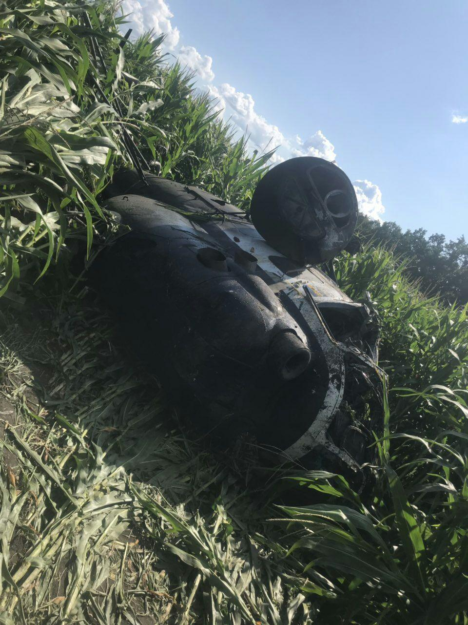 The Mi-2 crash site / Photo from dsns.gov.ua