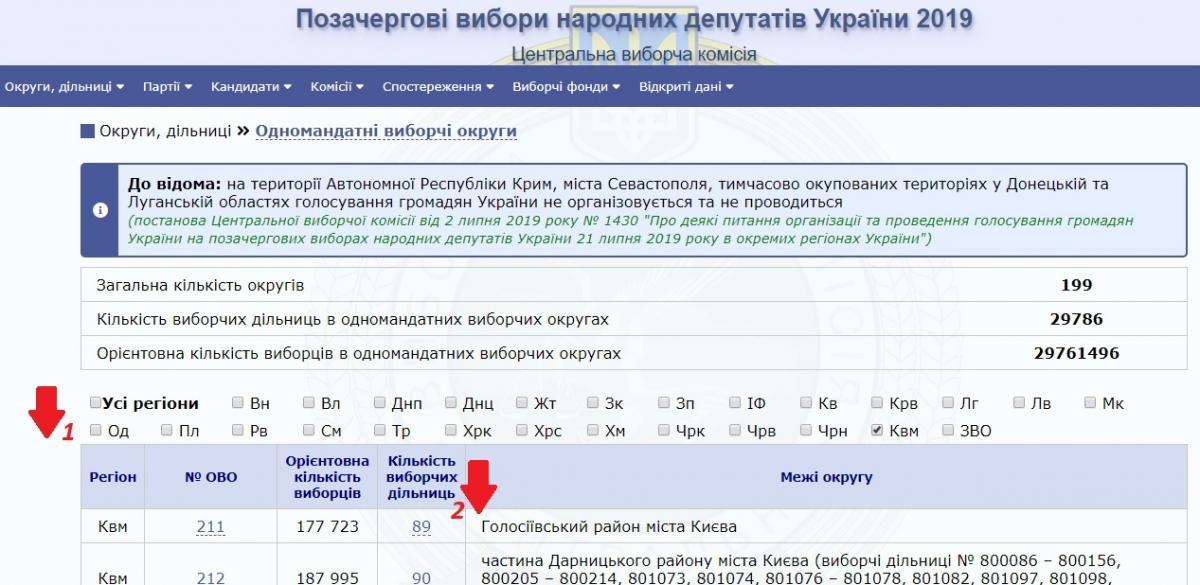 Как узнать свой избирательный участок / Скриншот