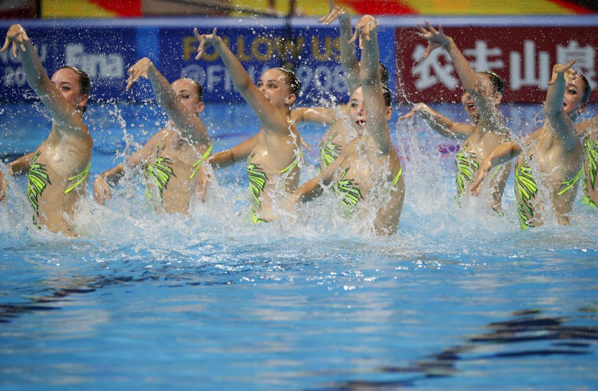 Сборная Украины по синхронному плаванию / REUTERS