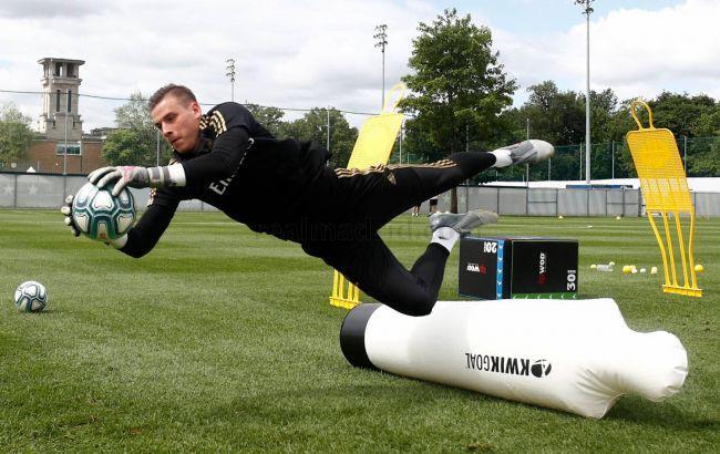 Андрій Лунін проводить перший сезон в Реалі / фото realmadrid.com