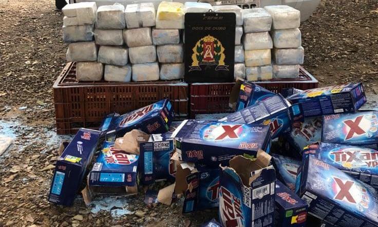 Спрессованные пачки кокаина находились в упаковках порошка / фото: полиция Сан-Паулу / Twitter
