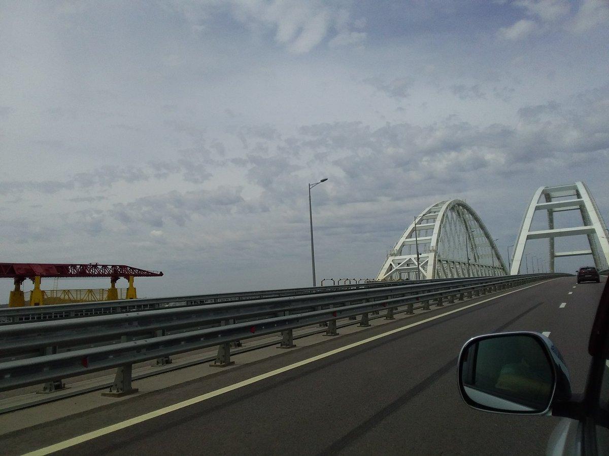 Кримський міст пустує / twitter.com/KrimRt