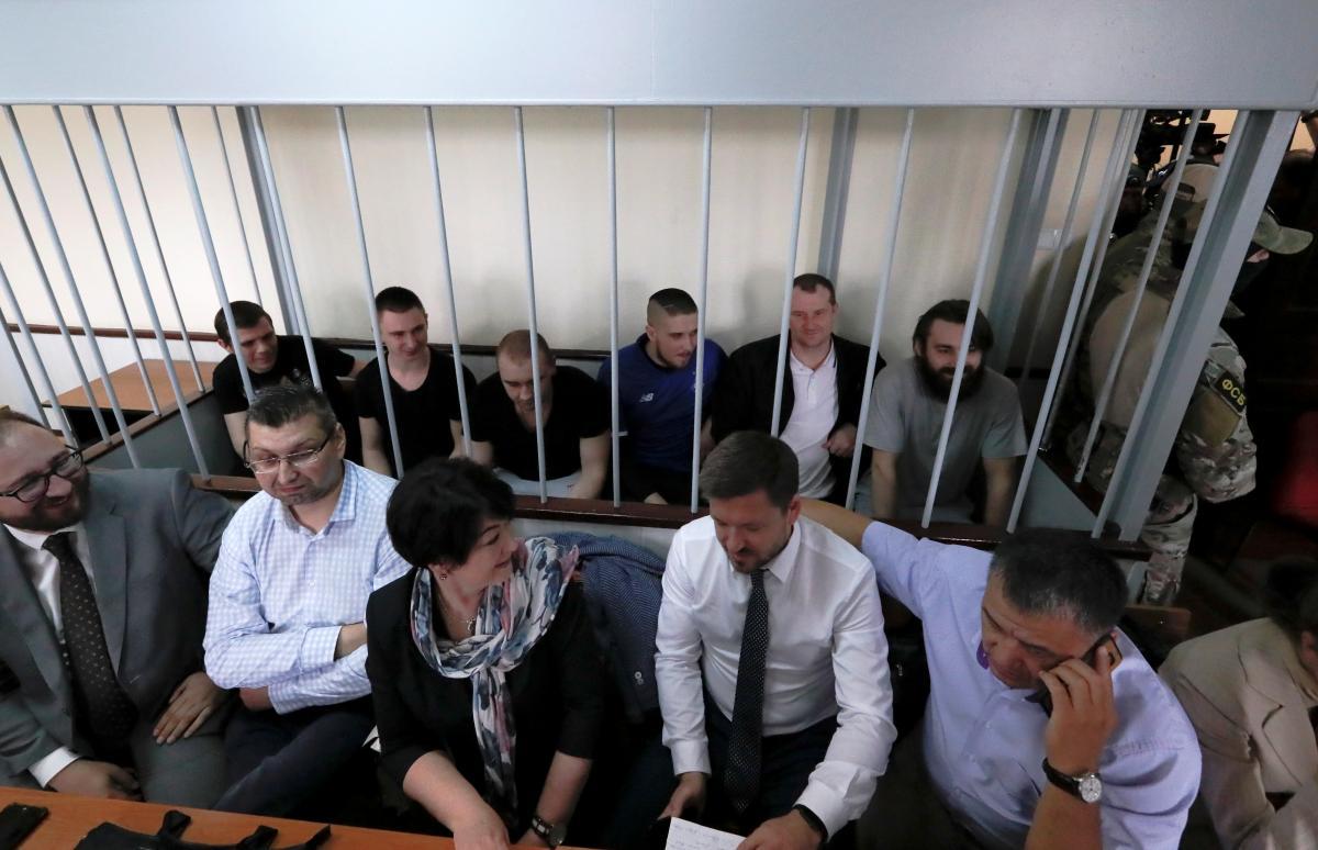 Пленные украинские моряки / REUTERS