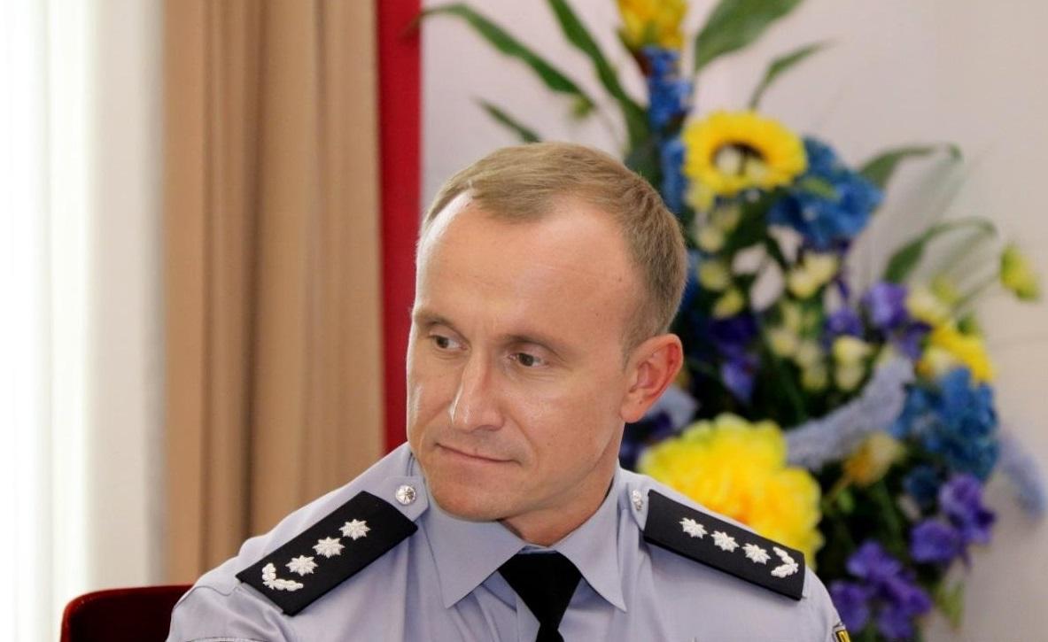 Сегодня состоялось представление Небитова как руководителя облполиции/ фото: npu.gov.ua