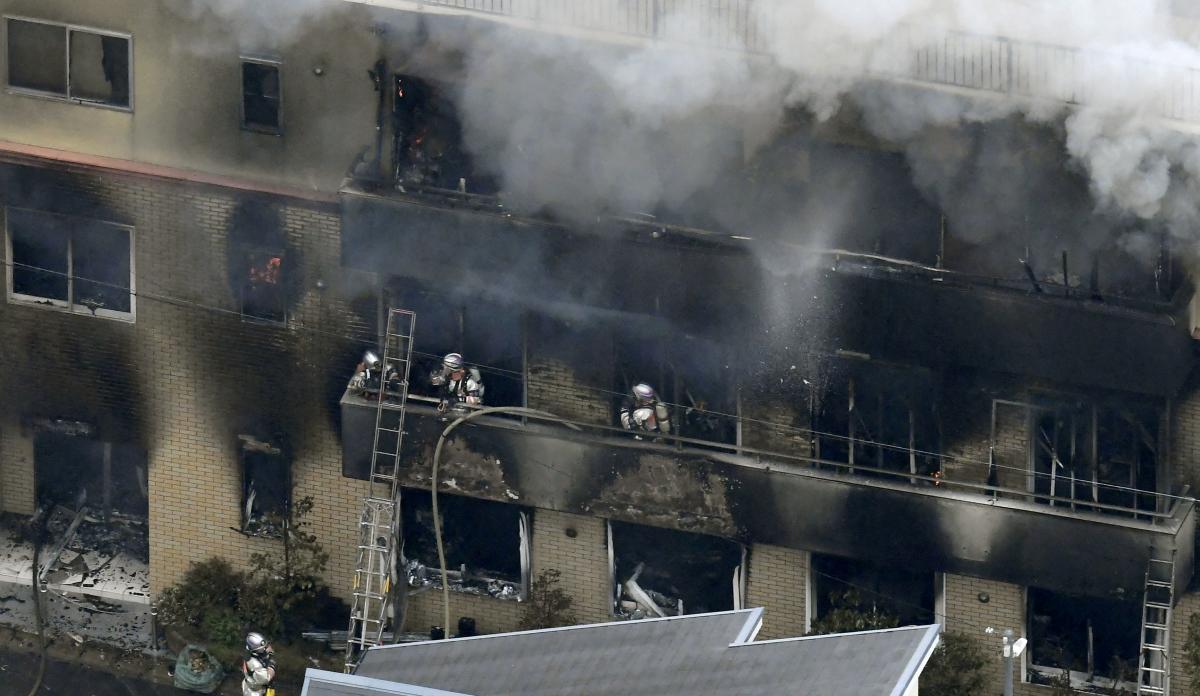Пожар на аниме-студии / REUTERS