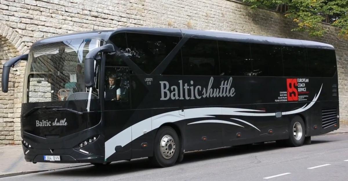 Автобусы будут ходить между Киевом и Таллинном трижды на неделю / фото Baltic Shuttle
