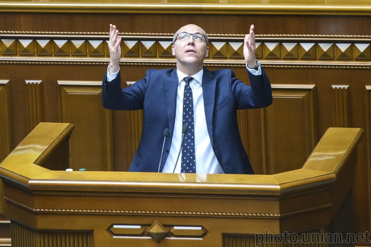 Парубий продолжает через соцсети переписку с Зеленским по поводу проведения внеочередного заседания Рады / фото УНИАН