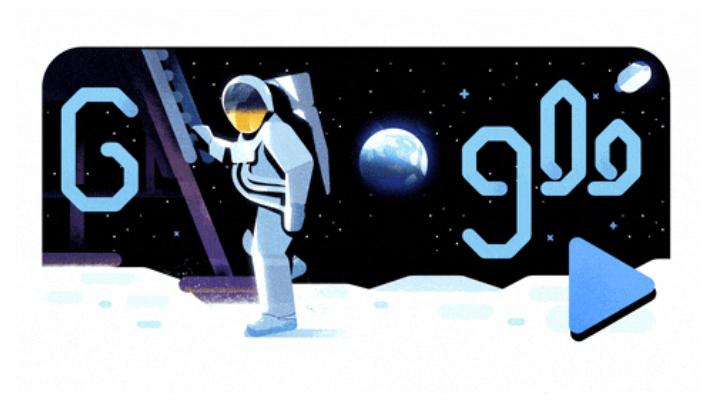 50 років тому людина вперше ступила на поверхню Місяця / скріншот