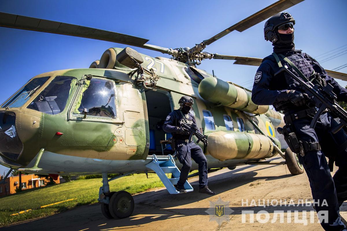 В Украине на дежурство заступили группы сводных отрядов авиаподдержки МВД / фото npu.gov.ua
