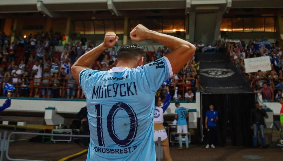 Артем Милевский забил первый гол в сезоне / фото: dynamo-brest.by