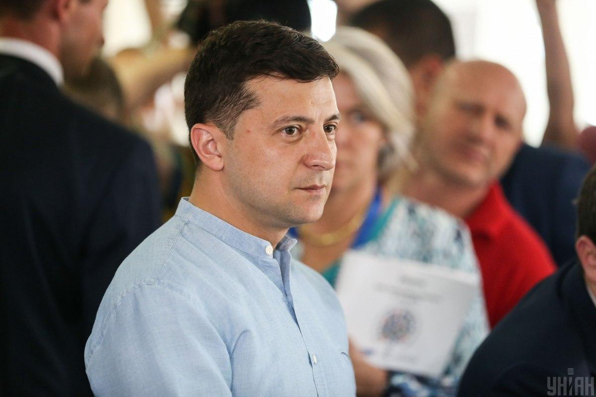 Зеленский поднял вопрос освобождения моряков во время выступления в штабе партии / фото УНИАН