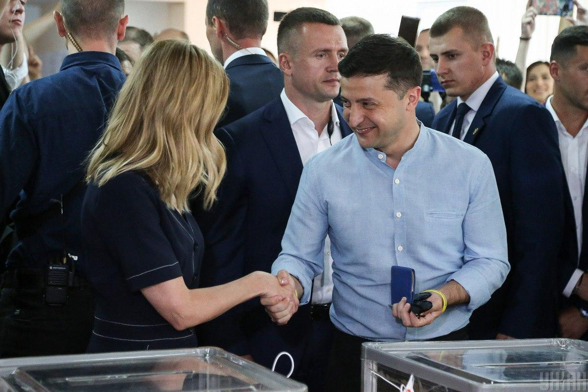 Зеленский прокомментировал результаты экзит-поллов / фото УНИАН