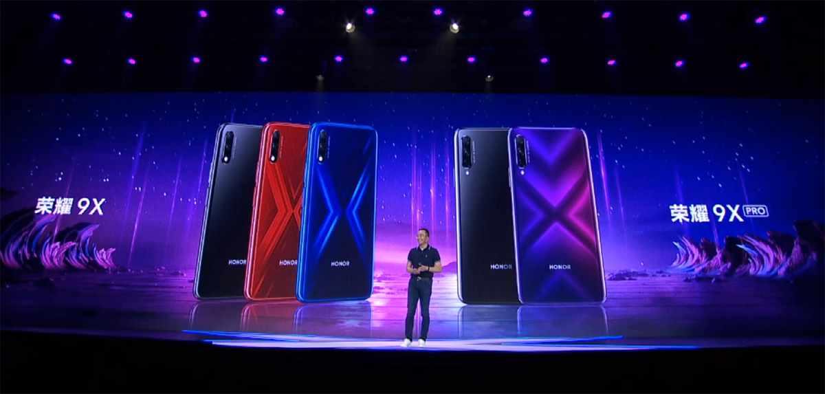 Смартфоны Honor 9X и Honor 9X Pro представлены официально / фото news.mydrivers.com