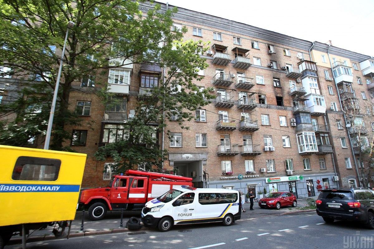 В результате пожара в Печерском районе Киева погиб человек, эвакуированы 12 человек / фото УНИАН