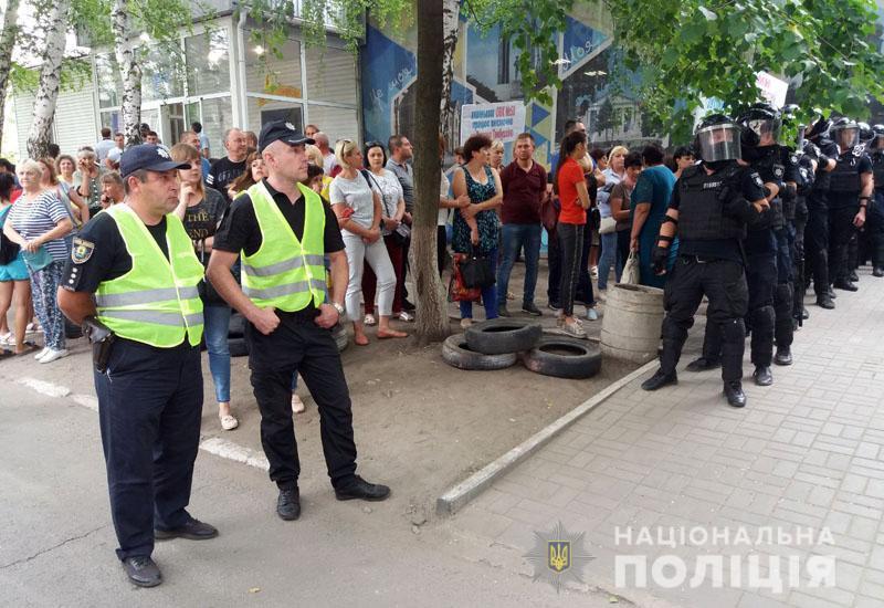 На месте находится руководство областного главка и местной полиции / dn.npu.gov.ua