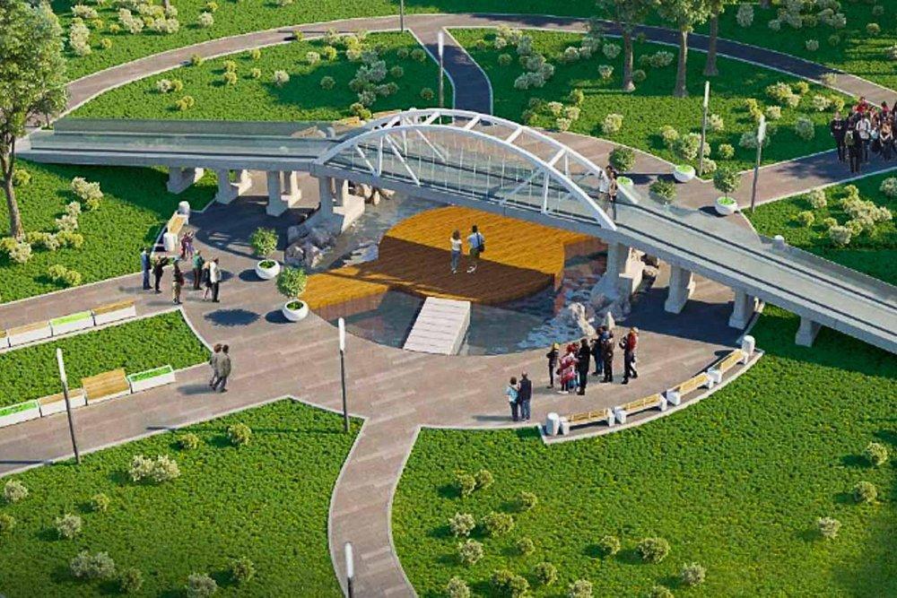 """Эскиз инсталляции """"Крымский мост"""""""