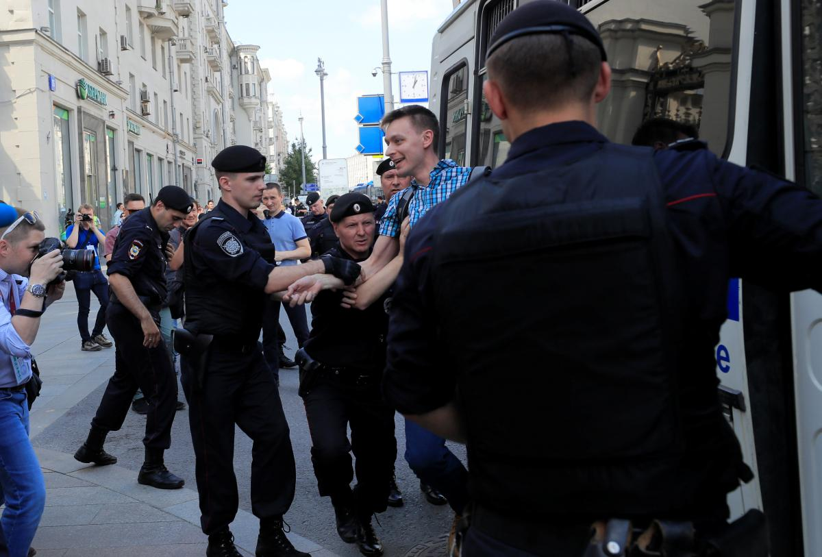 «ОВД-Инфо»: В столице России впроцессе митинга оппозиции задержали 317 человек