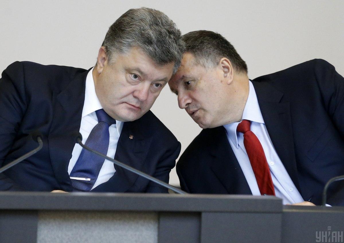 Петро Порошенко та Арсен Аваков / фото УНІАН