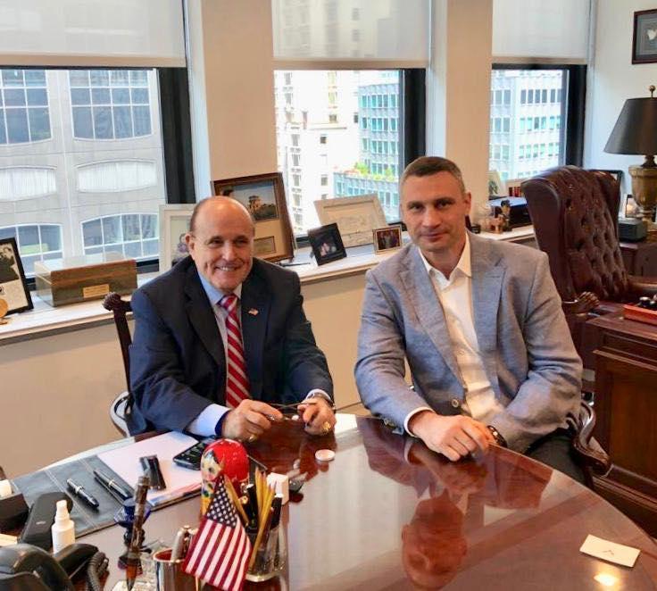Кличко встретился с адвокатом Трампа Джулиани / фото facebook.com/Vitaliy.Klychko