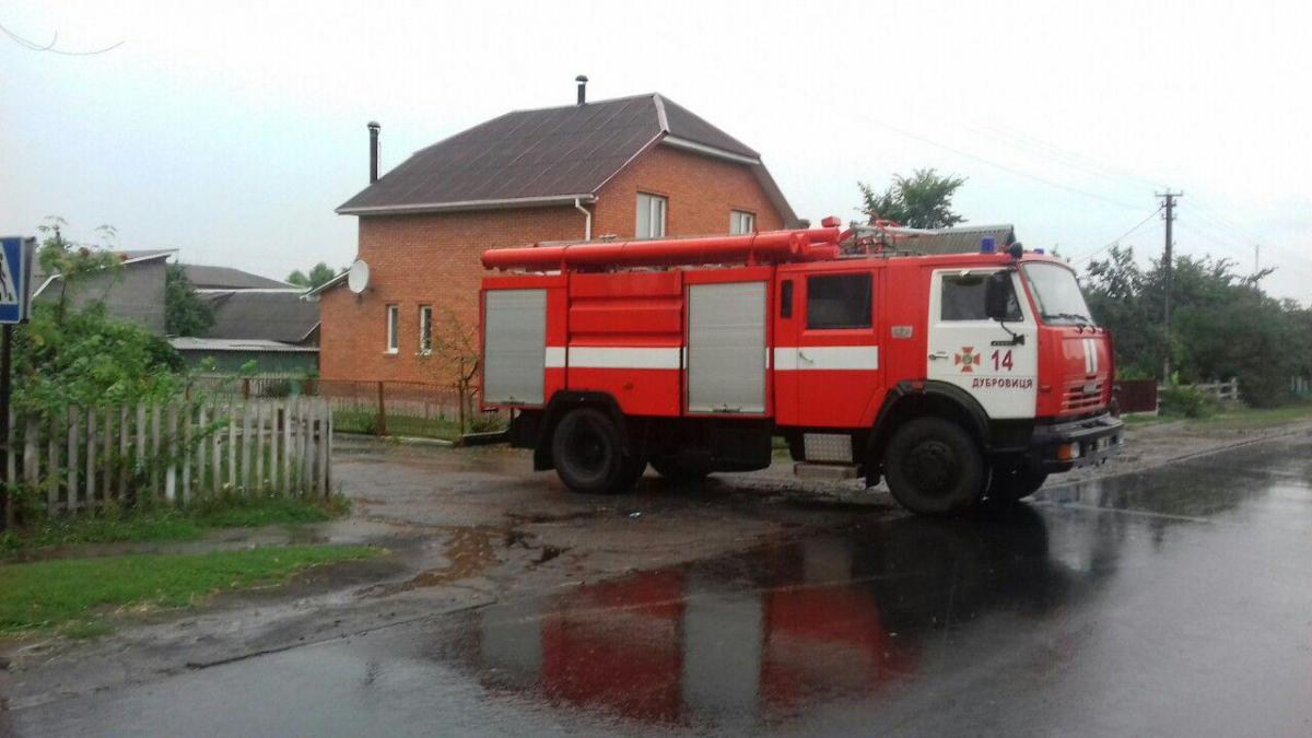На Рівненщині блискавки спричинили пожежі /ГУ ДСНС України у Рівненській області