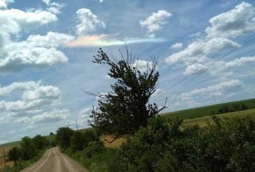 В Черновицкой области в небе зафиксировали огненную радугу