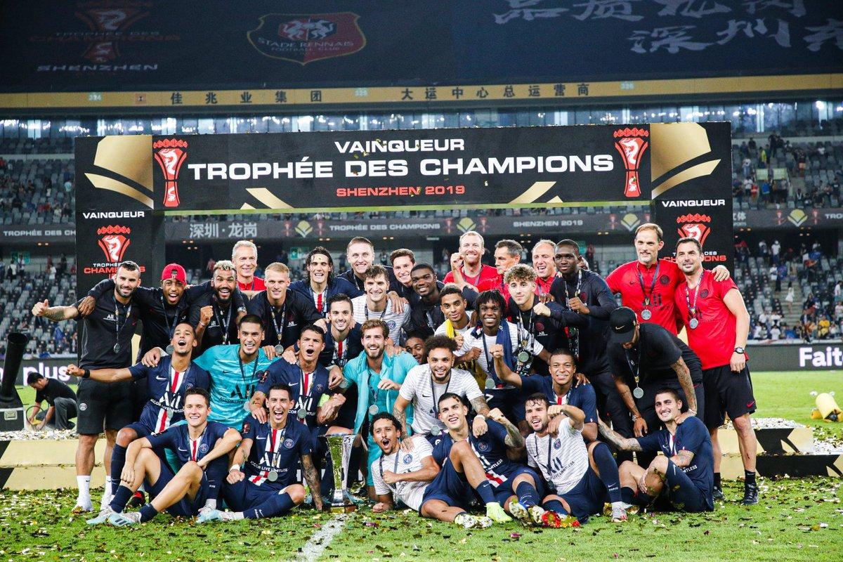 ПСЖ в восьмой раз в истории выиграл Суперкубок Франции / фото: twitter.com/psg_inside