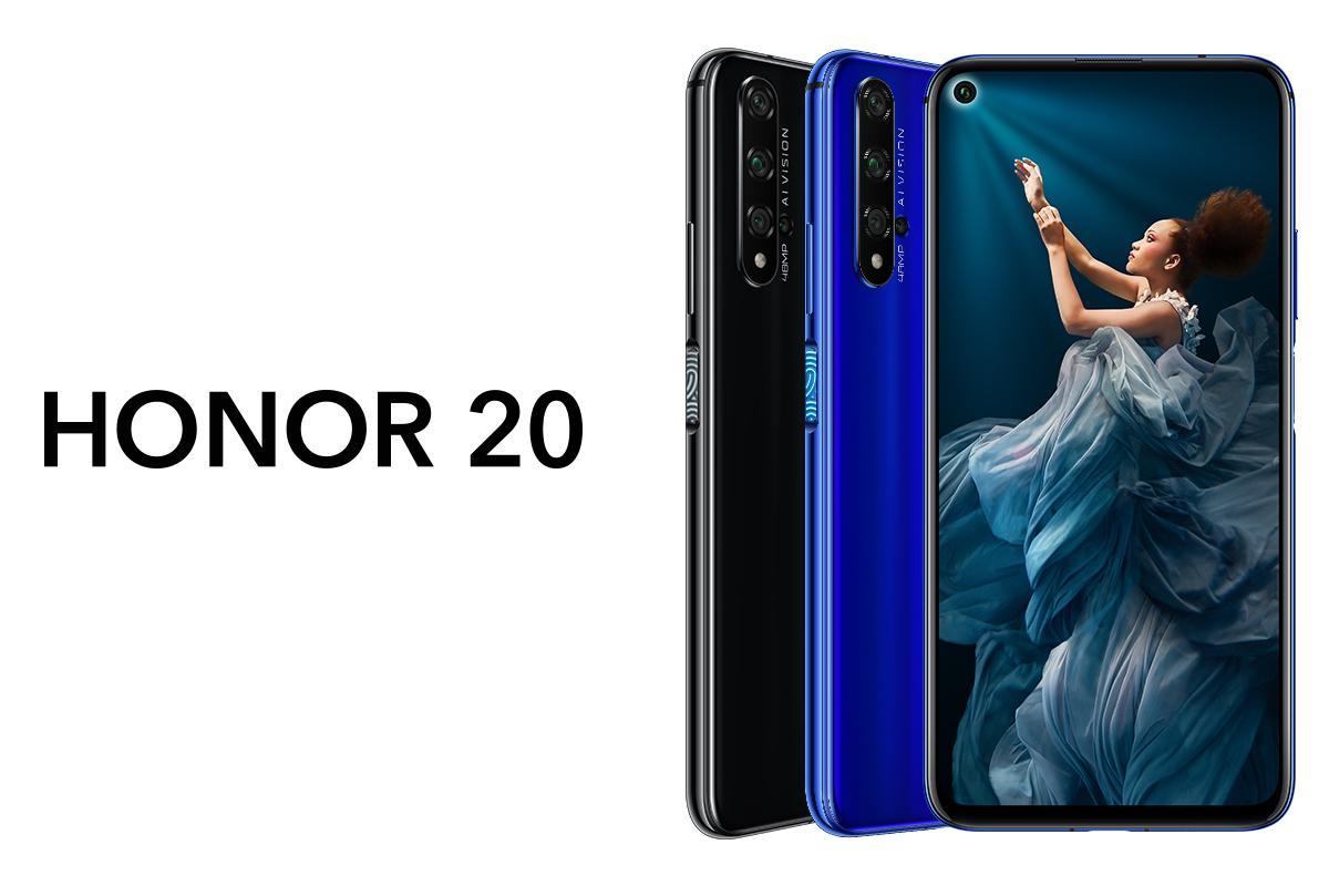 Рекомендованная розничная цена смартфона Honor 20 составляет 12 999 гривень / фото Honor