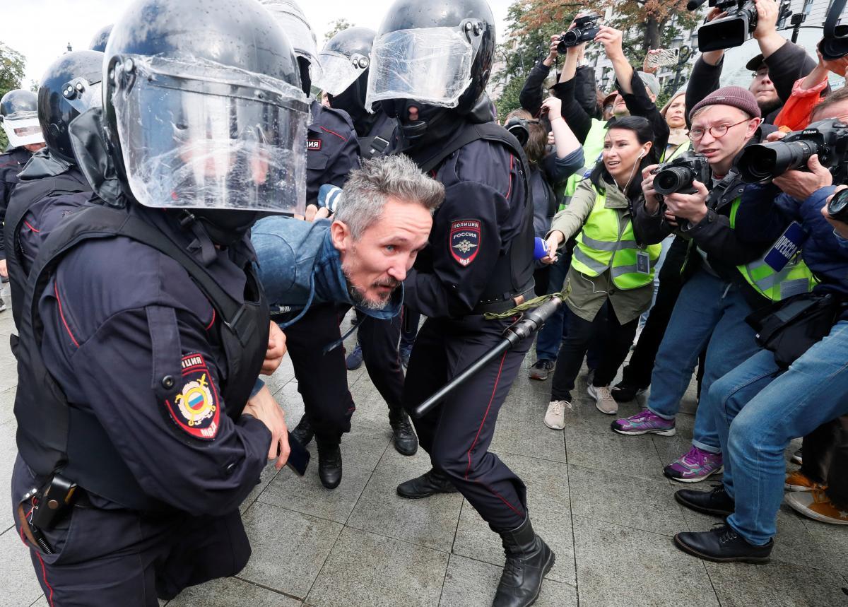Протесты в Москве / REUTERS